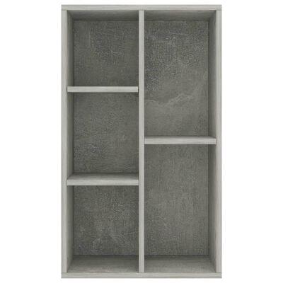 "vidaXL Book Cabinet/Sideboard Concrete Gray 19.7""x9.8""x31.5"" Chipboard"