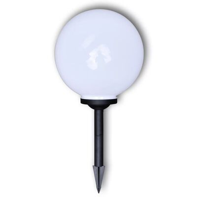 "vidaXL Outdoor Path Garden Solar Lamp Solar Ball Light LED 11.8"" 2pcs with Ground Spike"