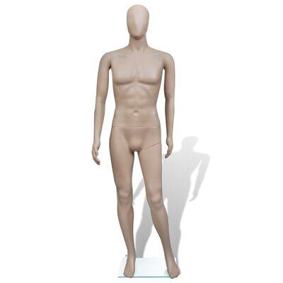 vidaXL Mannequin Man Round Head