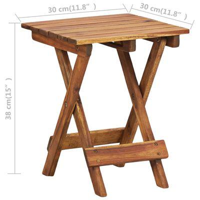 "vidaXL Plant Stand 11.8""x11.8""x15"" Solid Acacia Wood"