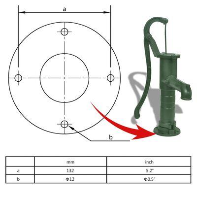 vidaXL Garden Hand Water Pump Cast Iron