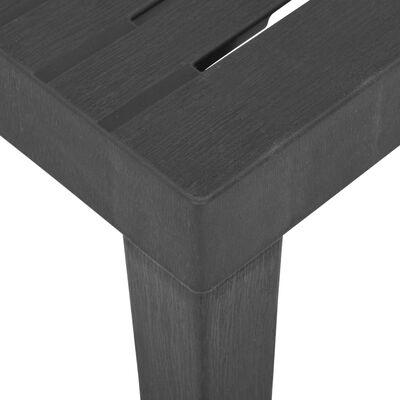 """vidaXL Garden Table Gray 31.1""""x25.6""""x28.3"""" Plastic"""
