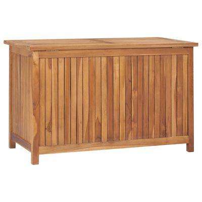 "vidaXL Garden Storage Box 35.4""x19.7""x22.8"" Solid Teak Wood"