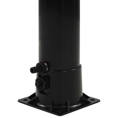"vidaXL Solar Shower Black 84.3"" 2.4 gal"
