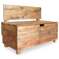 "vidaXL Bench Solid Reclaimed Wood 33.9""x15.7""x23.6"""