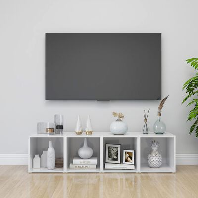 "vidaXL TV Cabinets 4 pcs High Gloss White 14.6""x13.8""x14.6"" Chipboard"