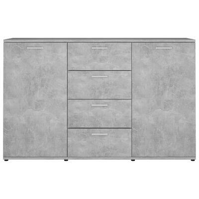 "vidaXL Sideboard Concrete Gray 47.2""x14""x29.5"" Chipboard"