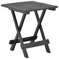 "vidaXL Folding Garden Table Anthracite 17.7""x16.9""x19.7"" Plastic"