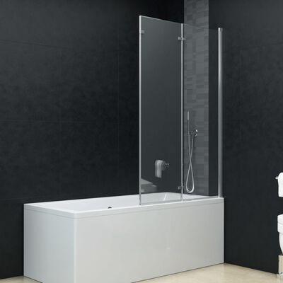 "vidaXL Folding Shower Enclosure 3 Panels ESG 51.2""x54.3"""