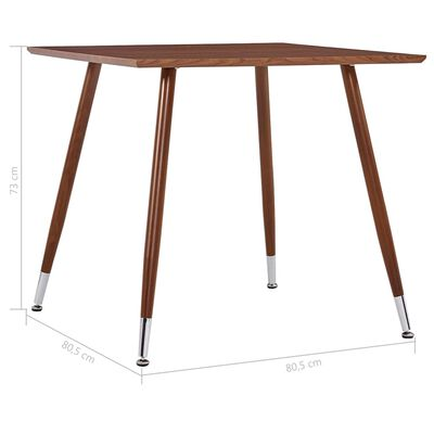 """vidaXL Dining Table Brown 31.7""""x31.7""""x28.7"""" MDF"""