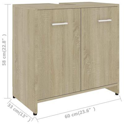 vidaXL 4 Piece Bathroom Furniture Set Sonoma Oak