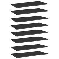 "vidaXL Bookshelf Boards 8 pcs High Gloss Black 31.5""x11.8""x0.6"" Chipboard"