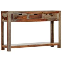 """vidaXL Console Table with 3 Drawers 47.2""""x11.8""""x29.5"""" Solid Sheesham Wood"""