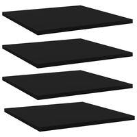 """vidaXL Bookshelf Boards 4 pcs Black 15.7""""x15.7""""x0.6"""" Chipboard"""