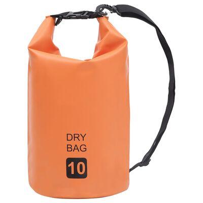 vidaXL Dry Bag Orange 2.6 gal PVC