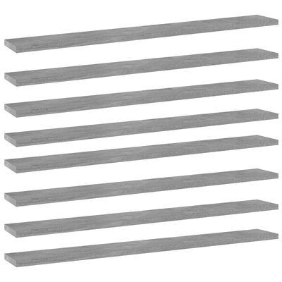 "vidaXL Bookshelf Boards 8 pcs Concrete Gray 31.5""x3.9""x0.6"" Chipboard"