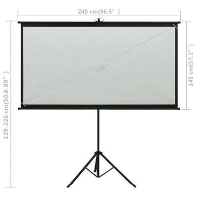 "vidaXL Projection Screen with Tripod 108"" 16:9"