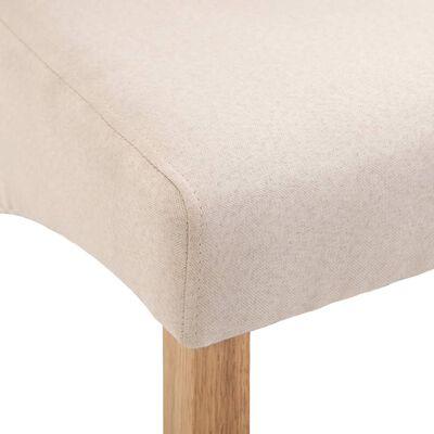 vidaXL Dining Chairs 6 pcs Cream Fabric