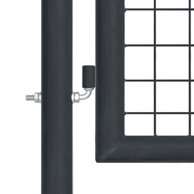 """vidaXL Mesh Garden Gate Galvanised Steel 39.4""""x68.9"""" Gray"""