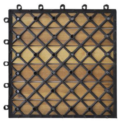 "vidaXL Decking Tiles Vertical Pattern 11.8""x11.8"" Acacia Set of 20"