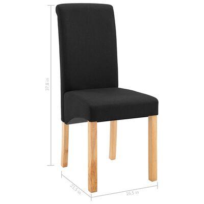 vidaXL Dining Chairs 4 pcs Black Fabric