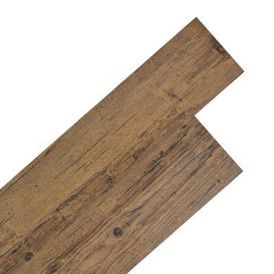 "vidaXL Self-adhesive PVC Flooring Planks 54 ft² 0.08"" Walnut Brown"