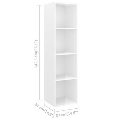vidaXL Wall-mounted TV Cabinets 4 pcs High Gloss White Chipboard