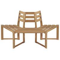"""vidaXL Tree Bench Half-hexagonal 63"""" Solid Acacia Wood"""