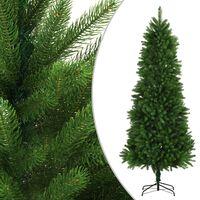 "vidaXL Artificial Christmas Tree Lifelike Needles 94.5"" Green"