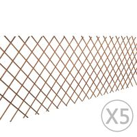 "vidaXL Willow Trellis Fence 5 pcs 5' 11"" x 2' 11"""