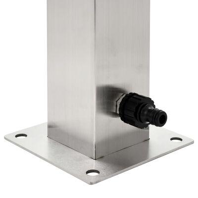 "vidaXL Garden Water Column Stainless Steel Square 37.4"""