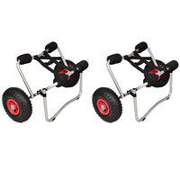 vidaXL Kayak Trolleys 2 pcs Aluminum