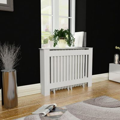 """White MDF Radiator Cover Heating Cabinet 44"""""""