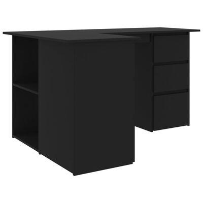 """vidaXL Corner Desk Black 57.1""""x39.4""""x29.9"""" Chipboard"""