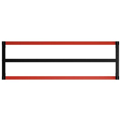 "vidaXL Work Bench Frame Metal 68.9""x22.4""x31.1"" Black and Red"