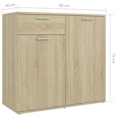 """vidaXL Sideboard Sonoma Oak 31.5""""x14.2""""x29.5"""" Chipboard"""