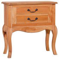"""vidaXL Side Table 23.6""""x11.8""""x23.6"""" Solid Mahogany Wood"""