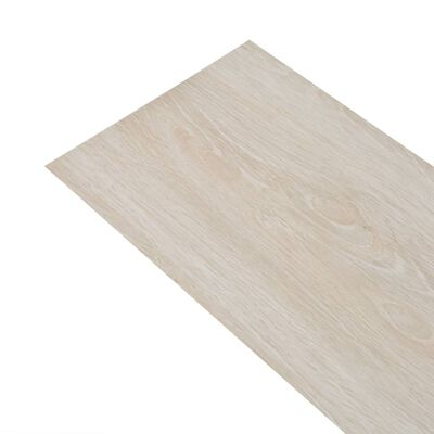 "vidaXL Self-adhesive PVC Flooring Planks 54 ft² 0.08"" Oak Classic White"