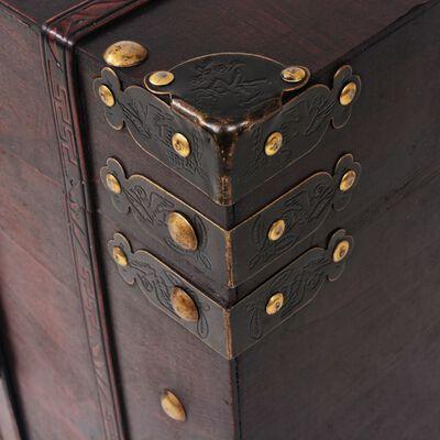 "vidaXL Vintage Treasure Chest Wood 26""x15""x15.7"""