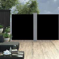 "vidaXL Retractable Side Awning Black 63""x236.2"""