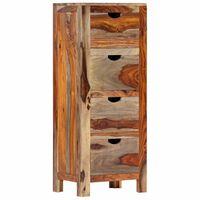 "vidaXL Drawer Cabinet 15.7""x11.8""x39.3"" Solid Sheesham Wood"