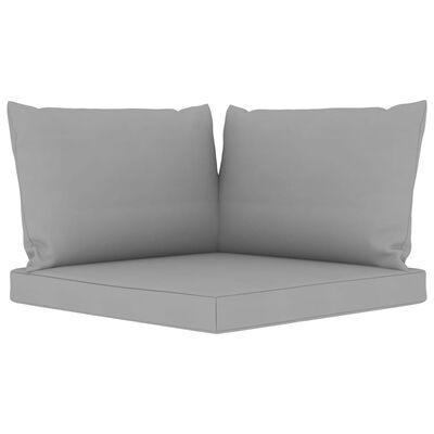 vidaXL Pallet Sofa Cushions 3 pcs Gray Fabric