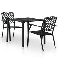 vidaXL 5 Piece Outdoor Dining Set Steel Black