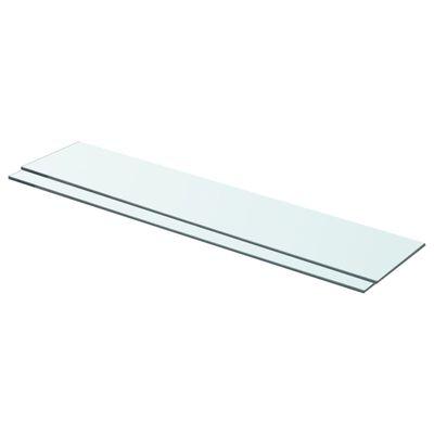 "vidaXL Shelves 2 pcs Panel Glass Clear 27.6""x5.9"""