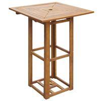 "vidaXL Bistro Table 29.5""x29.5""x43.3"" Solid Acacia Wood"