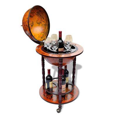 vidaXL Globe Bar Wine Stand Eucalyptus Wood