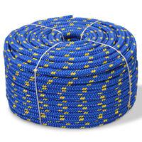 "vidaXL Marine Rope Polypropylene 0.55"" 1968.5"" Blue"