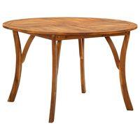 "vidaXL Garden Table Ø47.2"" Solid Acacia Wood"
