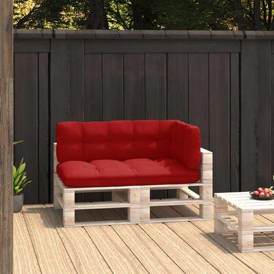 vidaXL Pallet Sofa Cushions 3 pcs Red