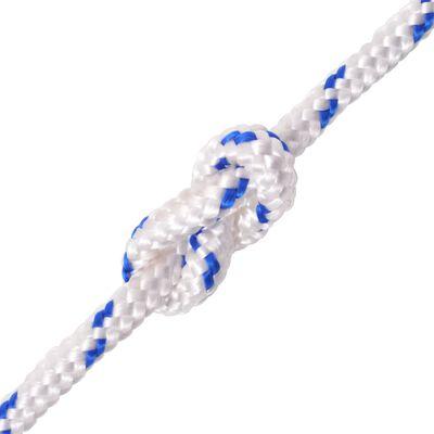 "vidaXL Marine Rope Polypropylene 0.47"" 1968.5"" White"